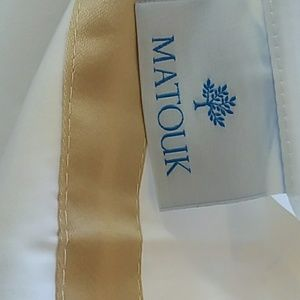 MATOUK Bedding - MATOUK LOWELL 2) EURO SHAMS  White COTTON PERCALE